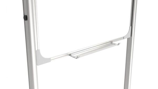 Mobiilne kahepoolne magnettahvel paberkinnitusega riiul