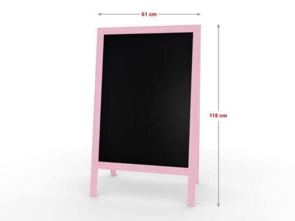 Harkjalg puitraam värvitud roosa mõõdud